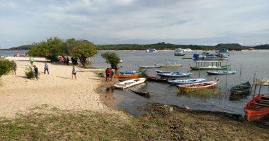 Corpo é localizado nas águas do rio Tapajós, em Alter do Chão