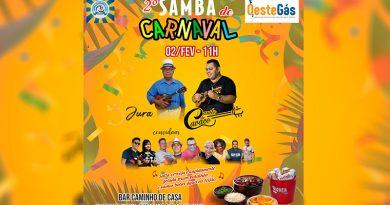 II Samba de Carnaval acontece neste domingo (2) no CDC