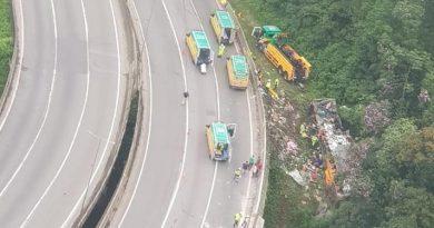 Acidente ocorrido hoje com ônibus de Belém destino Santa Catarina contabiliza 14 mortos