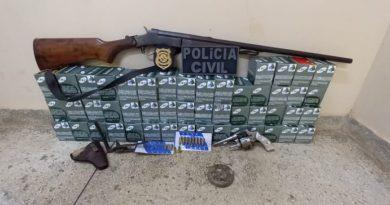 Polícia faz operação contra comércio ilegal de munições e prende suspeito de estupro em Trairão
