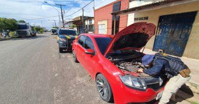 PRF apreende em Santarém veículo adulterado oriundo de crime na cidade de Manaus