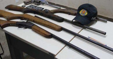 Cinco armas de fogo são apreendidas no município de Moju