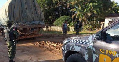 PM apreende madeira fruto de extração ilegal em Santarém
