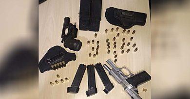 Polícia Militar recupera armas roubadas de um agente de segurança
