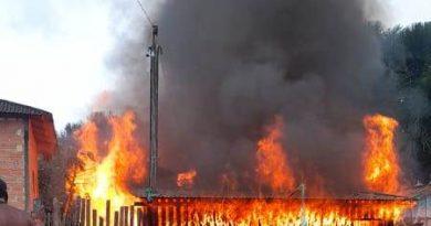 Incêndio destrói casa no município de Aveiro