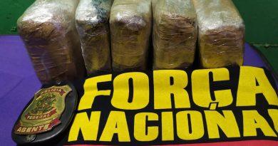 Óbidos: Polícia Federal e Força Nacional prendem passageiro de embarcação flagrado com 5 tabletes de maconha escondidos em bagagem